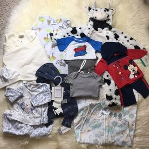 14pc NB - 6M LOT (plus socks and booties)